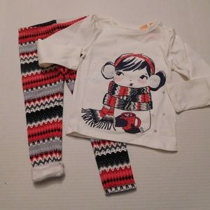 NWT 2pc Gymboree Hot Cocoa Top & Lined Leggings